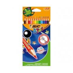 Paquet de 12 crayons de couleur