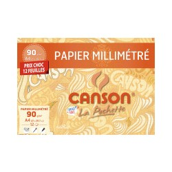 Pochette de papier millimétré